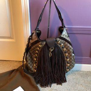 Gucci Babouska Large Fringe studded Shoulder bag